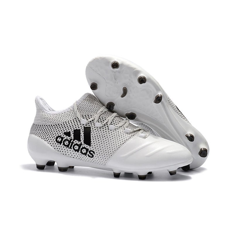 Adidas Scarpe Calcio X 17.1 FG Techfit Bianco Nero