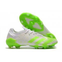 adidas Scarpe Predator Mutator 20.1 L FG Bianco Verde