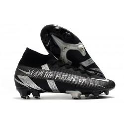 Scarpe Nike Mercurial Superfly VII Elite FG Nero Argento