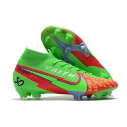 Scarpe Nike Mercurial Superfly VII Elite FG Faith Verde Rosso