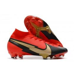 Scarpe Nike Mercurial Superfly VII Elite FG Rosso Nero Oro