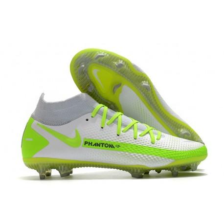 Nuovo Scarpa Nike Phantom GT Elite DF FG Bianco Verde