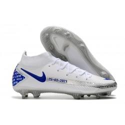 Nuovo Scarpa Nike Phantom GT Elite DF FG Bianco Blu