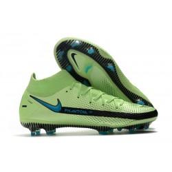 Nuovo Scarpa Nike Phantom GT Elite DF FG Verde Blu Nero