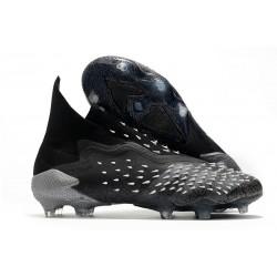 adidas Scarpe Calcio Predator Freak+ FG Nero Core Grigio Bianco