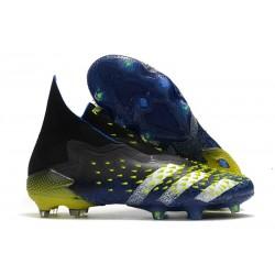 adidas Scarpe Calcio Predator Freak+ FG Blu Nero Core Bianco Giallo Solare