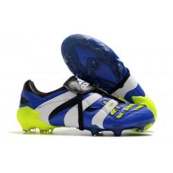 adidas Predator Accelerator FG Scarpe da Calcio - Blu Bianco Giallo