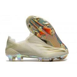 Scarpa da Calcio Adidas X Ghosted + FG Bianco Oro Metallico