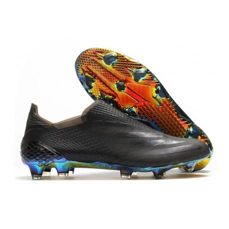 Scarpa da Calcio Adidas X Ghosted + FG Nero Core Signal Cyan