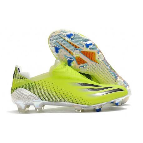 Scarpa da Calcio Adidas X Ghosted + FG Giallo Solare Nero Core