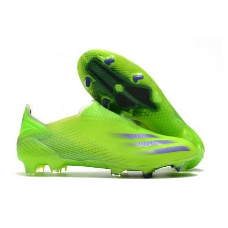 Scarpa da Calcio Adidas X Ghosted + FG Verde Signal Inchiostro