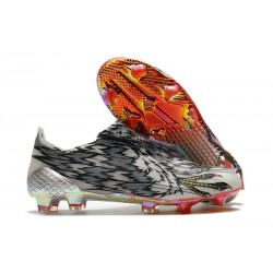 Scarpa da Calcio Adidas X Ghosted + FG Nero Bianco Argento
