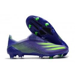 Scarpa da Calcio Adidas X Ghosted + FG Viola Verde