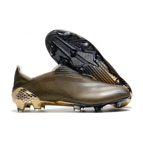 Scarpa da Calcio Adidas X Ghosted + FG Marrone