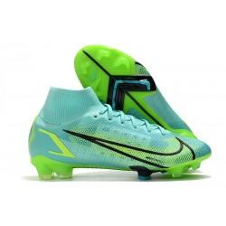 Scarpe Nike Mercurial Superfly VIII Elite FG Turchese Dinamico Lime Glow
