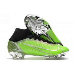 Scarpe Nike Mercurial Superfly VIII Elite FG Verde Argento Nero