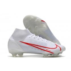 Nike Mercurial Superfly 8 Elite FG Bianco Rosso