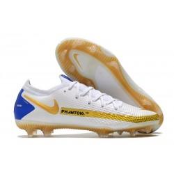 Scarpe Nike Phantom GT Elite FG Bianco Oro Blu