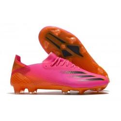 Scarpe adidas X Ghosted.1 FG Rosa Shock Nero Core Arancione Acceso