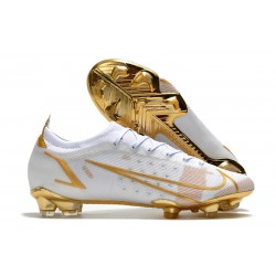 Nike Mercurial Vapor 14 Elite FG Scarpa Bianco Oro