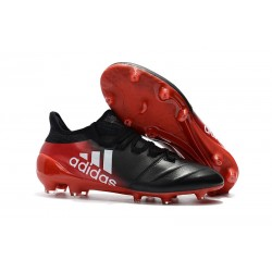 Adidas Scarpe Calcio X 17.1 FG Techfit - Nero Rosso