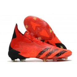 adidas Scarpe Calcio Predator Freak+ FG Rosso Nero Core Rosso Solare