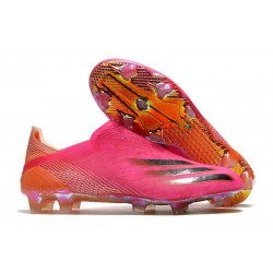 Scarpa da Calcio Adidas X Ghosted + FG Rosa Shock Nero Core Arancione Acceso