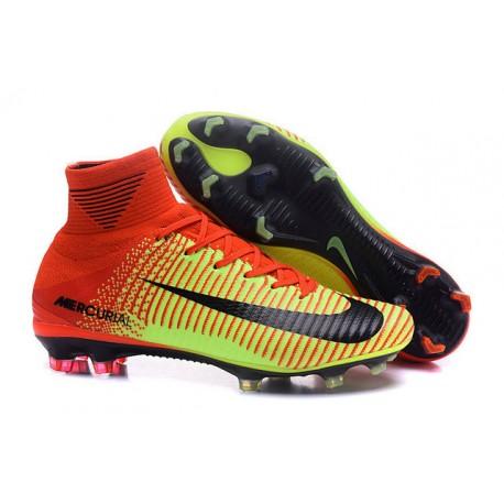 Nike Scarpe da Calcio Mercurial Superfly 5 FG ACC - Rosso Verde 51c0b58364b