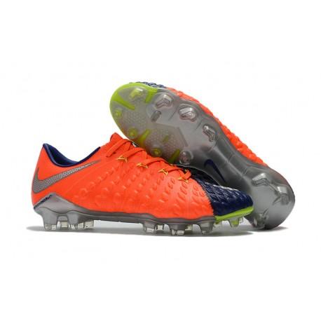 Nike Hypervenom Phantom 3 Scarpe Da Calcetto Con Tacchetti Arancio Blu