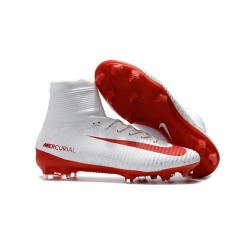 Scarpa Nuove Nike Mercurial Superfly V FG - Bianco Rosso