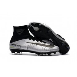 Nike Mercurial Superfly V FG Scarpe da Calcetto - Metallico Nero