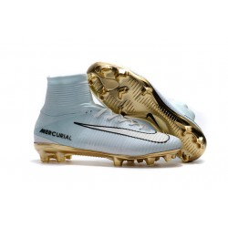 Nike Mercurial Superfly V CR7 FG Scarpe da Calcetto - Vitórias Bianco Oro