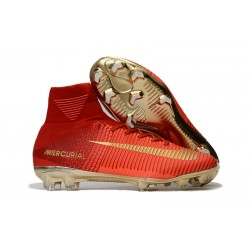 Scarpe Nike Mercurial Superfly V Dynamic Fit FG - Rosso Oro