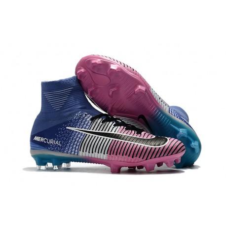 f13b2864ce4c7 Nike Mercurial Superfly V Df Fg Scarpe da Calcio - Rosa Blu