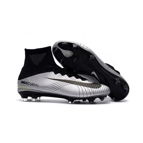 info for c77cb 82456 Cristiano Ronaldo Nike Mercurial Superfly 5 CR7 FG Scarpa - Metallico Nero