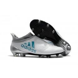 Nuove Scarpe da Calcio adidas X 17+ Purespeed FG - Bianco Blu
