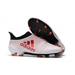 Nuove Scarpe da Calcio adidas X 17+ Purespeed FG - Bianco Rosso
