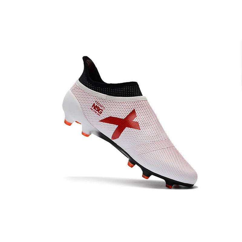 Nuove Scarpe da Calcio adidas X 17+ Purespeed FG Bianco Rosso