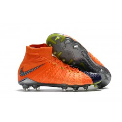 Nike Hypervenom Phantom III DF FG Scarpa da Calcio - Arancio Blu