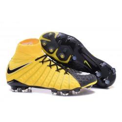 Nike Hypervenom Phantom III DF FG Scarpa da Calcio - Nero Giallo