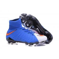Scarpe Nike Hypervenom Phantom 3 Dynamic Fit FG - Blu Bianco