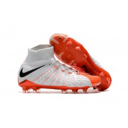 Scarpe Nike Hypervenom Phantom 3 Dynamic Fit FG - Bianco Arancio