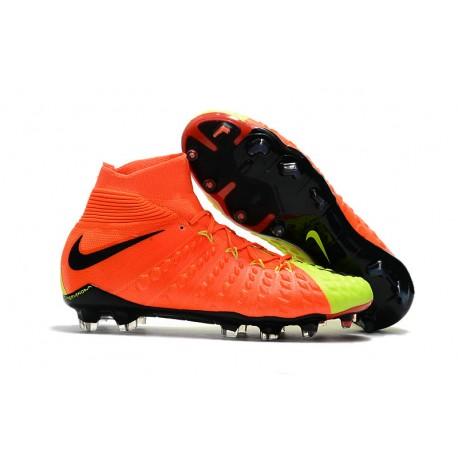Nike Neymar Scarpa da Calcio Hypervenom Phantom III FG ACC Arancio Verde