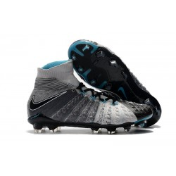 Nike Nuove Hypervenom Phantom III FG Neymar Scarpe Da Calcetto - Grigio Nero