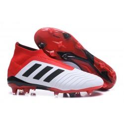 Scarpe Calcio Adidas Predator 18+ FG - Bianco Rosso Nero