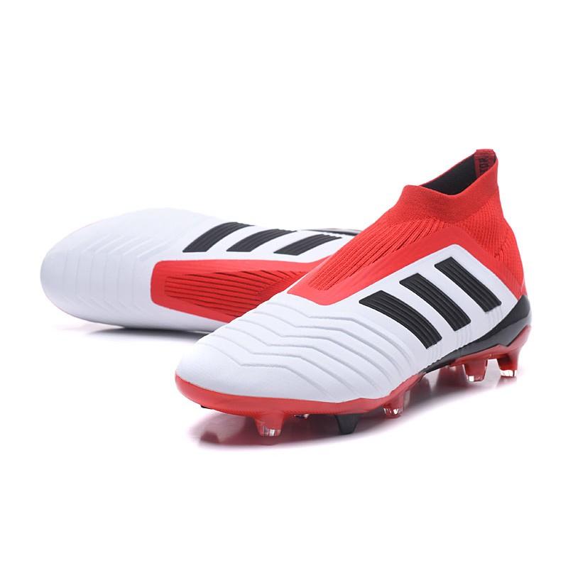 Scarpe Calcio Adidas Predator 18+ FG Bianco Rosso Nero