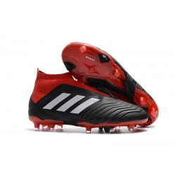 Scarpe Calcio Adidas Predator 18+ FG - Nero Rosso