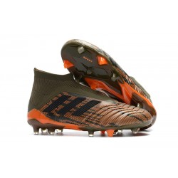 Scarpe Calcio Adidas Predator 18+ FG - Oliva Nero Arancio