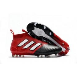 Adidas ACE 17+ PureControl FG Scarpe da Calcio - Rosso Metallico Nero
