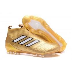 Adidas ACE 17+ PureControl FG Scarpe da Calcio - Oro Bianco